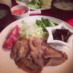 豚の生姜焼き☆