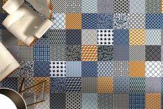 Un tapis de sol en carreaux de ciment - 16 patchworks de carrelages tendance - CôtéMaison.fr