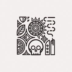 Illustration series on vanitas. Because time is fleeting.So focus on the good. Game Design, Symbole Tattoo, Graphic Pattern, Skull Icon, Print Design, Logo Design, Design Graphique, Vanitas, Tribal Art