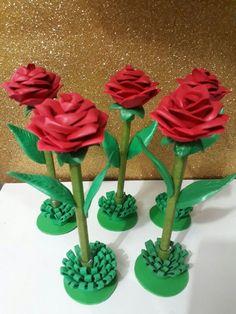 Caneta de rosa de eva