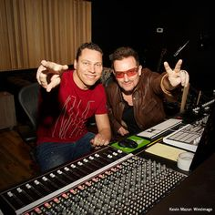 """It was amazing to be in the studio with Bono for (RED)."" - Tiësto #music"