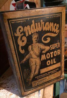 Rare Original Endurance 2-Gallon Oil Can