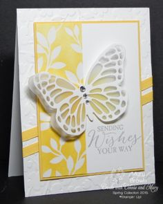 stampercamper.com - I can't believe it's the end of Create with Connie and Mary Spring Collection 2015.  Since it is Saturday it's time for our design team blog hop!  I love the butterfly framelits and the Irresistibly Yours dsp.  This is what I came up with using a pretty monochromatic color scheme.  For all the details and to start the hop...visit my blog.  Set:  Butterfly Basics