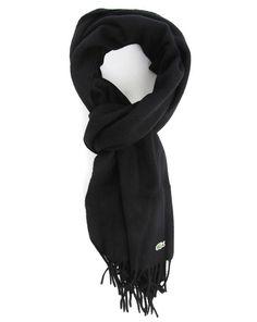 Coffret écharpe laine cachemire noir LACOSTE