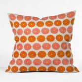Holli Zollinger Annapurna Throw Pillow by DENY Designs at Gilt Modern Throw Pillows, Floral Throw Pillows, Outdoor Throw Pillows, Decorative Pillows, Monochromatic Living Room, Outdoor Loungers, Coral Design, Living Room Seating, Pillows