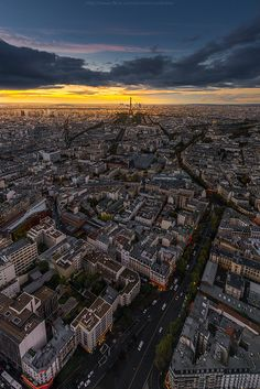 Aerial View from Montparnasse