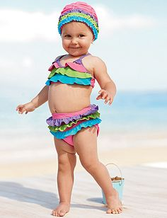 Love this little bikini!  But MUST find the matching hat...  website is sold out.  :(