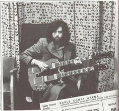 Jimmy Page ~ Warms Up Backstage  at Earls Court Arena.