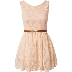 Lili London Lace Lined Prom Dress found on Polyvore