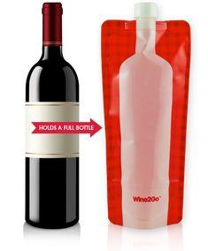Wine2Go Plastic Wine Bottles and portable wine bags | Cool Mom Picks