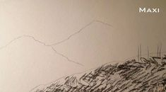 Paso 2 para aprender a dibujar paisajes a carboncillo