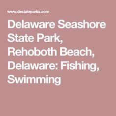 Delaware Seashore State Park, Rehoboth Beach, Delaware: Activities, Biking, Boating, Camping, Clamming, Crabbing, Cultural/History/Nature Programs, Fishing, Hiking, Hunting, Horseback Riding, Kayaking, Picnicking, Surfing, Swimming