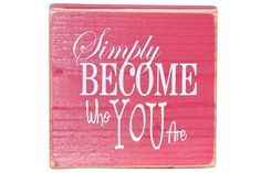 Simply Become Who You Are block. Inexpensive and easy craft idea for YW.
