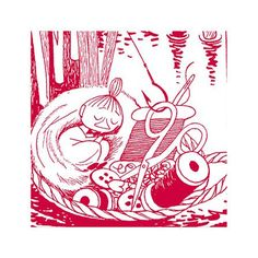 Servilletas Little My de Moomin Dining, rojo