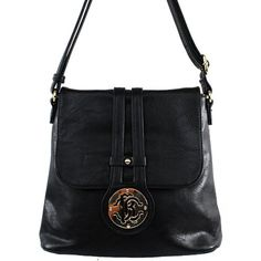 Click Here and Buy it on Amazon.com Price:$27.99 Amazon.com: Alyssa New Arrival Fashion Unique Solid Turn Over Top Detailed Solid Messanger Bag / Crossbody Bag in Black: Clothing