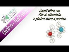 Anelli Wire con filo di alluminio e Pietre Dure o Perline | TUTORIAL - HobbyPerline.com - YouTube