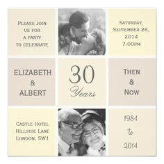 Modern Squares 30 Years Pearl Wedding Anniversary