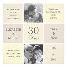 Modern Squares 30 Years Pearl Wedding Anniversary