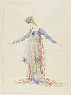 Charles Ricketts. Costume design for Hermione, The Winter's Tale. 1925. V&A E.1148-1926