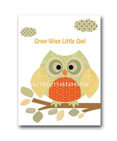 Kids Art Kids Wall Art Baby Boy Nursery Art Print Baby Boy Room Decor Fox Nursery Owl Nursery Bear Nursery set of 3 orange green childrens artwork  To return to my shop, click here: http://www.etsy.com/shop/artbynataera  *** UNFRAMED - THIS PRINT IS ON PAPER OR ON CANVAS ***1362Z 1363Z 1364Z  Set of 3 print in inches . Theres an extra 1/8 in. white border around the print to ease framing.IMPORTANT: This is a print made on matte photo paper that will need to be framed. ● SIZE FOR EACH PICTURE…