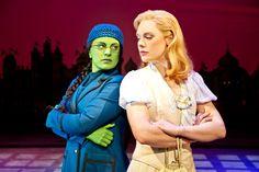 Louise Dearman (Elphaba) and Gina Beck (Glinda). Photo by Matthew Crockett