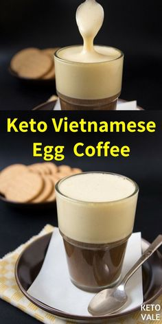 Egg Coffee or Cà Phê Trứng is a Vietnamese drink which is very popular in the North of Vietnam, particularly in Ha Noi. It might sound very weird to some people but you should give it a try. It's super delicious! Starbucks, Egg And Grapefruit Diet, Boiled Egg Diet Plan, Egg Coffee, Eating Eggs, Keto Drink, Diet Plan Menu, Vietnamese Recipes, Asian Recipes