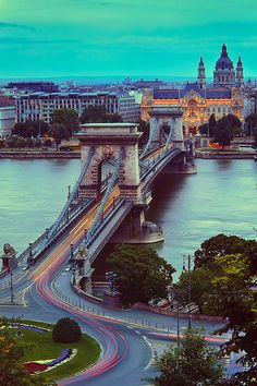 Chain Bridge, Budapest (by Luís Henrique Boucault), This is a spectacular city I could spend a good long time in. Loved it! Places Around The World, Oh The Places You'll Go, Travel Around The World, Places To Travel, Places To Visit, Around The Worlds, Travel Destinations, Wonderful Places, Beautiful Places