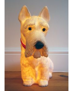 How cute is this dog light!  My boys would love a dog....  at least this one you don't have to take for walks!