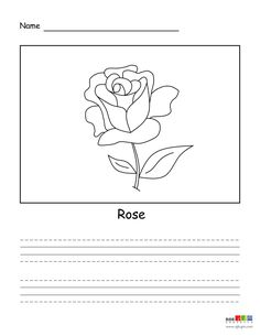 Beautiful Roses, Easy Drawings, Creations, Animation, Words, Children, Simple, Flowers, Color
