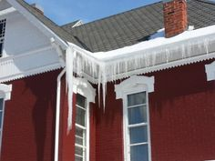 Ice adorns the Fairmount Historical Museum in Fairmount Indiana, Fairmount Indiana, James Dean Grant County Indiana