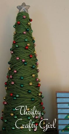beady yarn christmas tree.