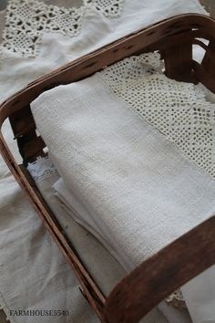Renovating, decorating and creating in an 1867 Pennsylvania farmhouse. Farmhouse Style Decorating, Farmhouse Decor, Farmhouse Ideas, Linen Sheets, Linens And Lace, Vintage Lace, Linen Fabric, Sunny Days, Handmade Rugs