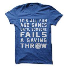Failed Saving Throw T-Shirt - Geeky Shirts - Ideas of Geeky Shirts - Logo Gaming, Gaming Headset, Dnd Shirts, Dnd Funny, Funny Geek, Hilarious, Nerd Geek, Funny Shirts, Nerdy Shirts