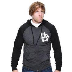 "Dean Ambrose ""Unstable"" Unisex Lightweight Raglan Full-Zip Hoodie Sweatshirt - WWE"
