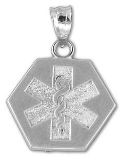 Emergency Stuff - Star of Life Medical Alert Pendant - Sterling Silver, $10.95 (https://www.emergencystuff.com/star-of-life-medical-alert-pendant-sterling-silver/)