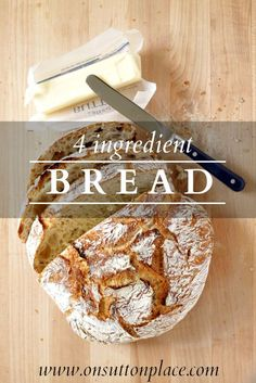 Easy, no knead option for bread fresh from the oven! Delicious for a party with some dipping oils.