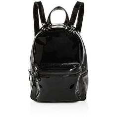 Studio 33 Patent Mini Backpack (1.745 ARS) ❤ liked on Polyvore featuring bags, backpacks, day pack backpack, daypack bag, mini rucksack, patent leather bags and knapsack bag