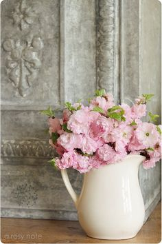 Pitcher of flowers  . . .