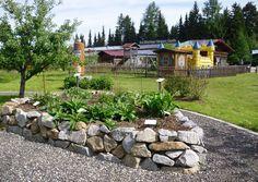 Kräutergarten mit Kräuterhochbeet