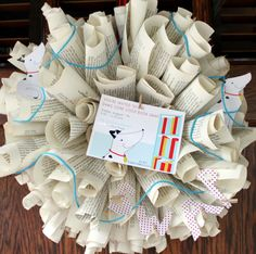 Book Swap Party Wreath