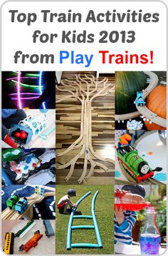 Top Train Activities for Kids 2013 from Play Trains! (love this site for train play ideas)