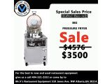 Limited time offer ON BKI PRESSURE FRYER WAS $4576 NOW ONLY $3500For the best in new and used restaurant equipment give us a call 404-521-2332 or come by to Mr.V's Restaurant Equipment 510 Jones Ave. NW Atlanta,GA 30314