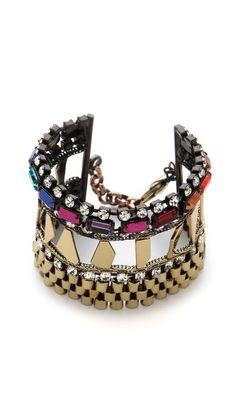 Iosselliani Multi Stone Watch Link Bracelet