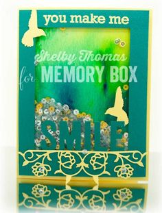 Memory Box Challenge #8- Shake it up Baby! (Shaker Cards) - Outside The Box