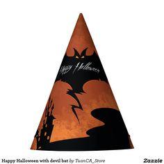 Happy Halloween with devil bat
