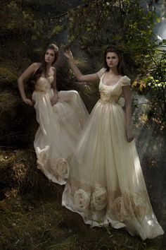 I'm a little obsessed with wedding gowns.   These are so different! The color is lovely.