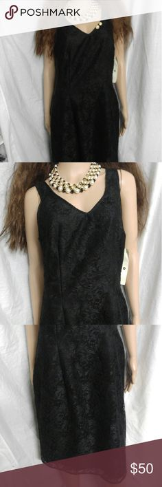 Black L Mica Macy lace little black dress This is a brand new lined lace little black dress. It would look good with a little shrug or bolero for new years or Christmas. It cost 138 and was on sale for 82 at Macy's. Mica Dresses Midi