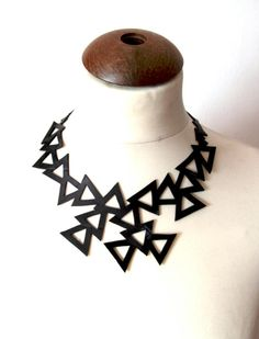 Upcycled innertube necklace