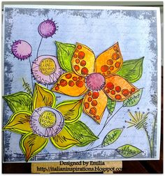 Anything goes for the new Simon Says Stamps  Wednesday Challenge .   I used my new Paperartsy JOFY12 stamps.           I stamped the flow...