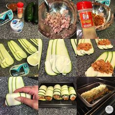 Zucchini and tuna cannelloni - Cocinas - Bacon Recipes For Dinner, Dinner Recipes Easy Quick, Easy Food To Make, Real Food Recipes, Cooking Recipes, Low Carb Paleo, Low Carb Vegetarian Recipes, Healthy Recipes, Healthy Breakfast Snacks